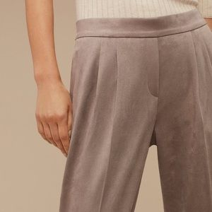 Babaton Suede Cohen Dress Pants